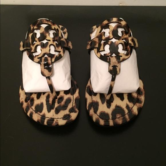 a7f130b04cbe Tory Burch Miller leopard print thong sandals. M 5a79218a46aa7cfa68f076b5